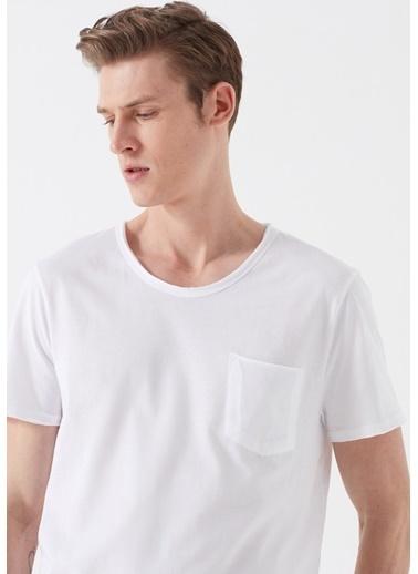 Mavi Erkek  Basic Tişört 062772-20843 Beyaz